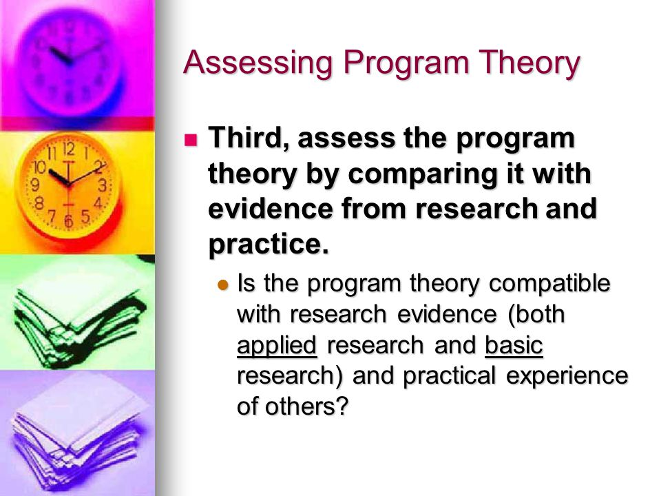 Assessing Program Theory