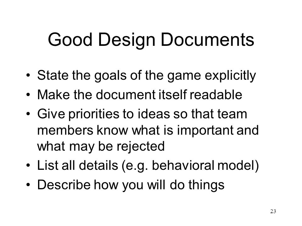 Game Design Documents Ppt Video Online Download - How to make a design document