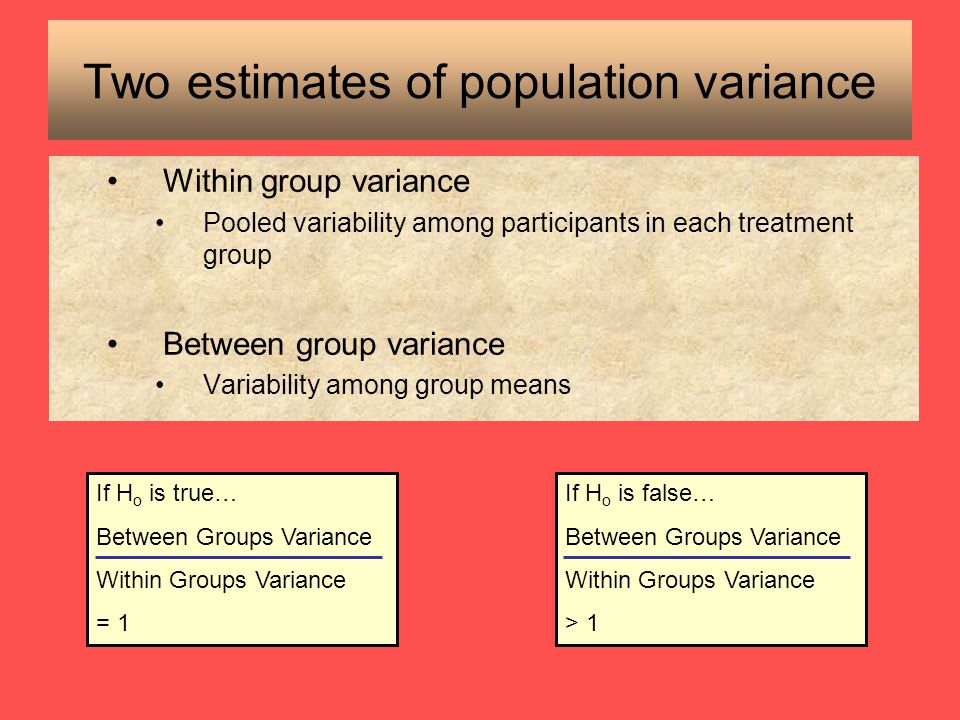 Two estimates of population variance