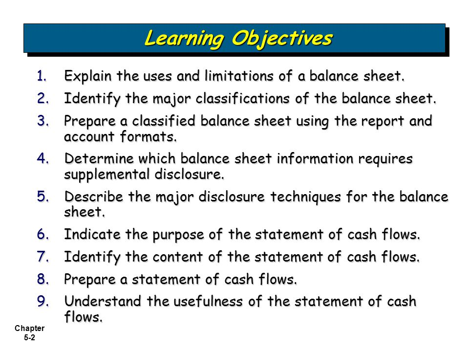 Examining the Balance Sheet and Statement of Cash Flows - ppt video ...