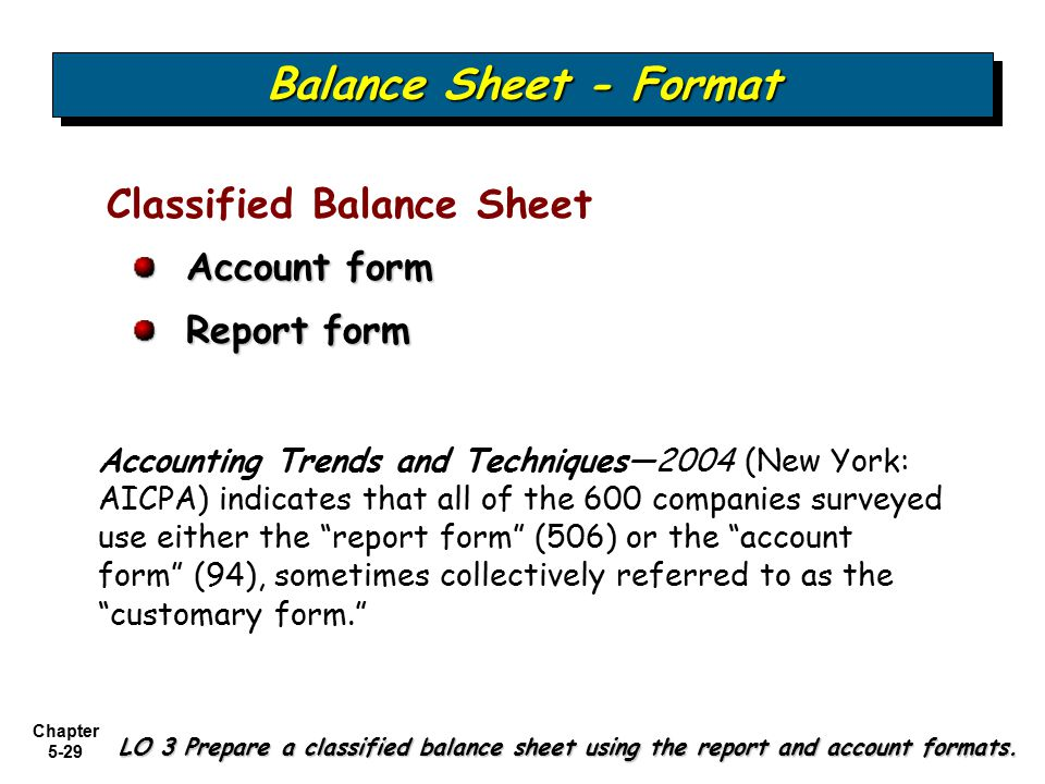 Examining the balance sheet and statement of cash flows ppt video 29 balance sheet format thecheapjerseys Choice Image