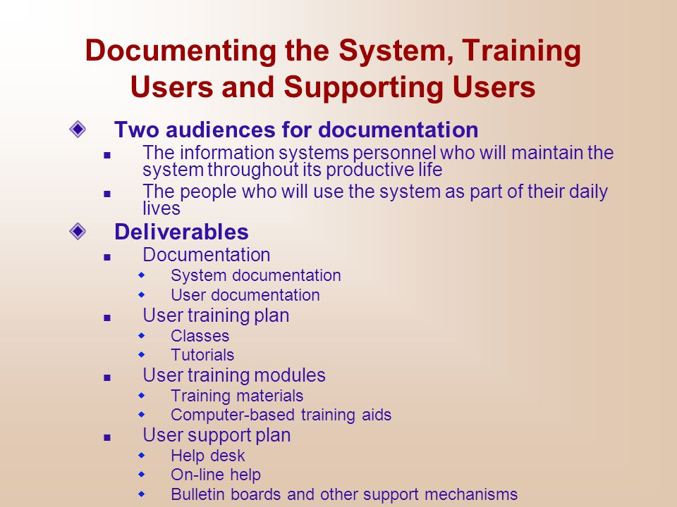 System Implementation and Maintenance - ppt download