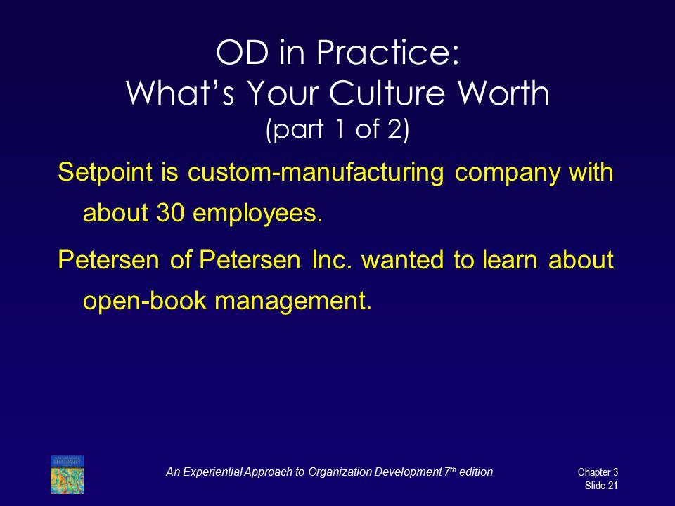 OD in Practice: What's Your Culture Worth (part 1 of 2)
