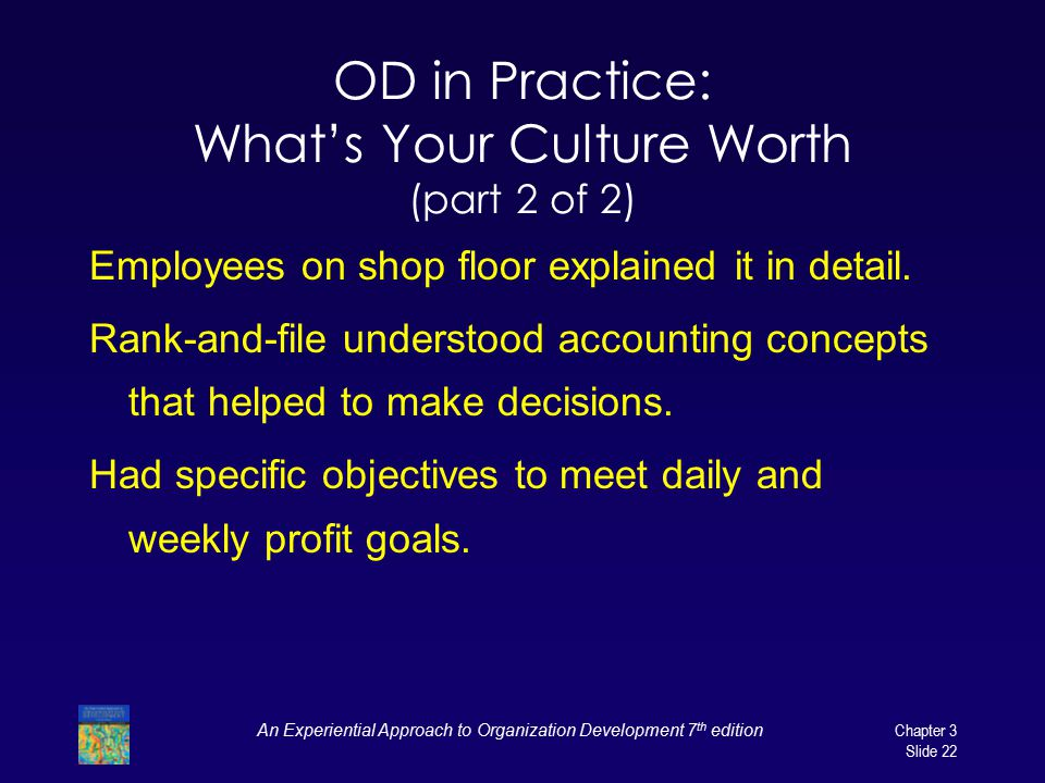 OD in Practice: What's Your Culture Worth (part 2 of 2)