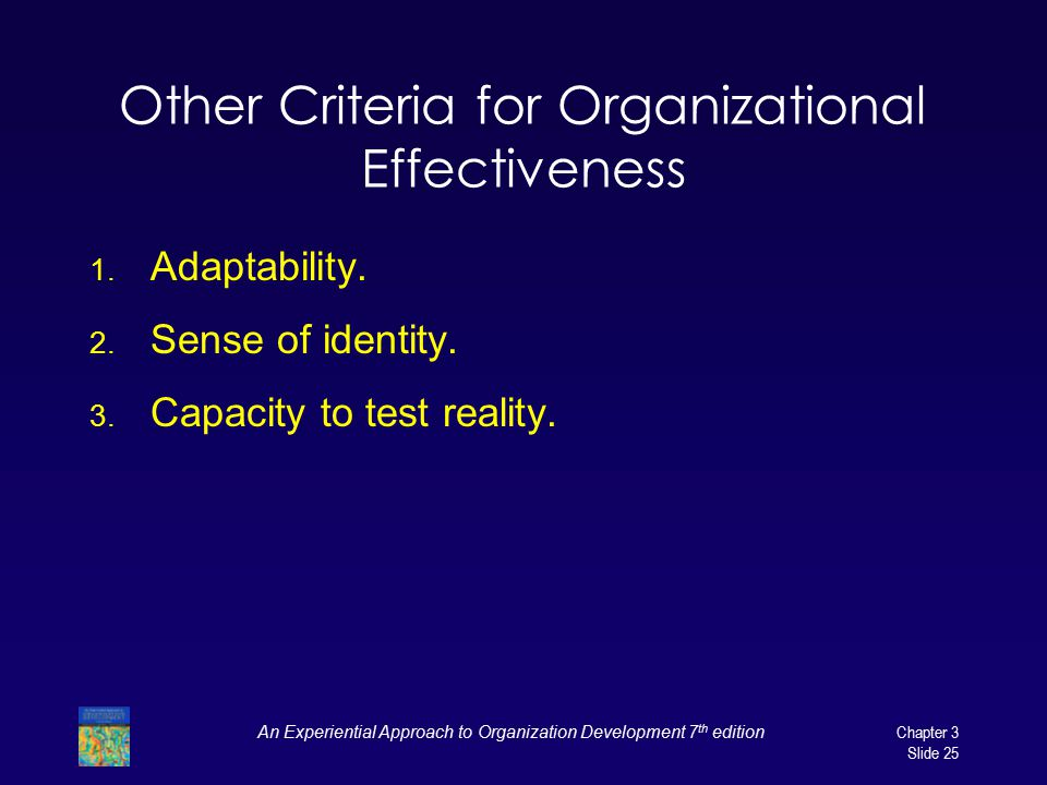 Other Criteria for Organizational Effectiveness