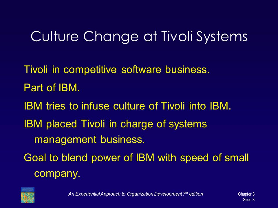 Culture Change at Tivoli Systems