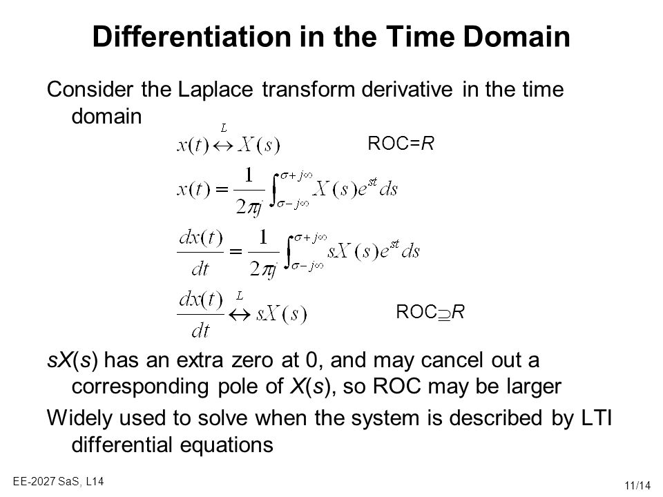 Differentiation in the Time Domain