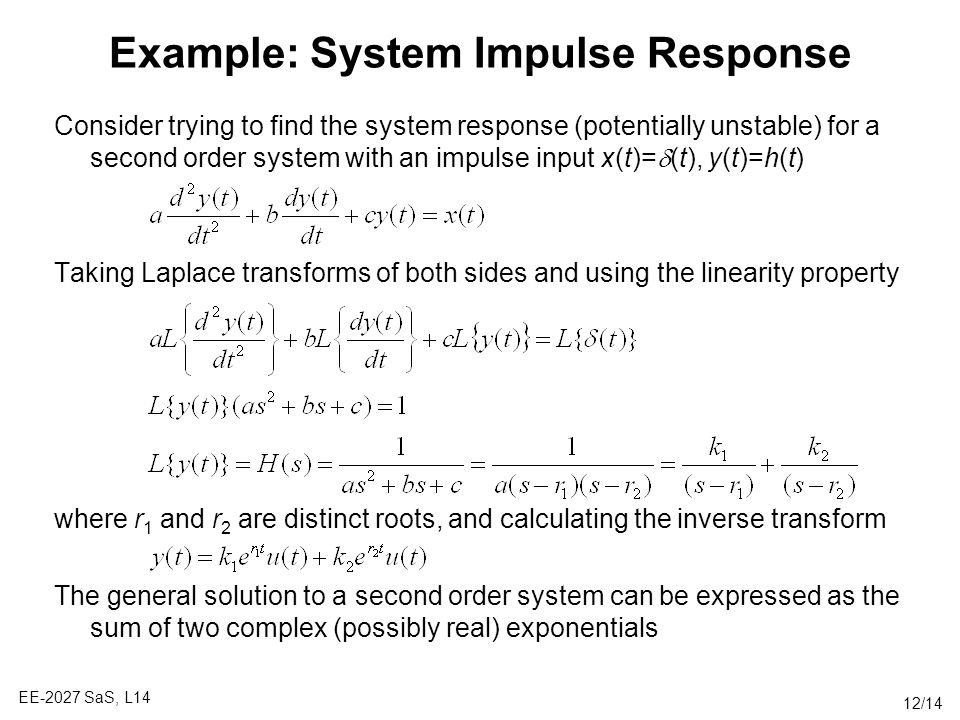 Example: System Impulse Response