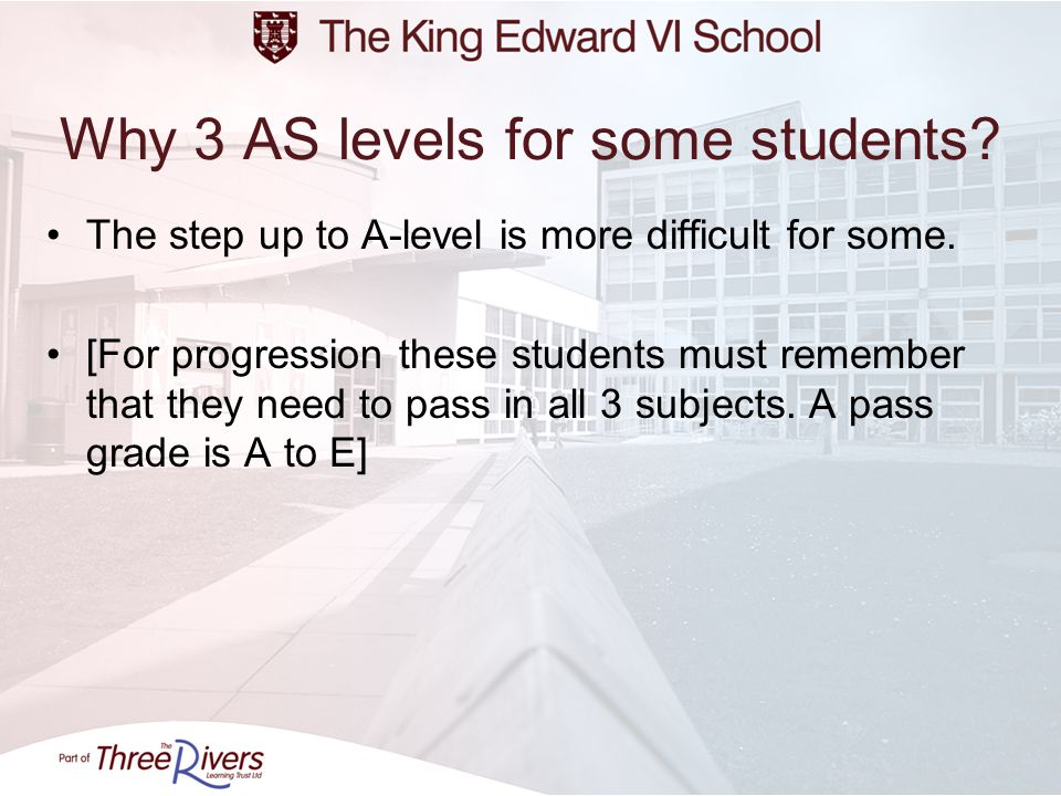 Why 3 AS levels for some students