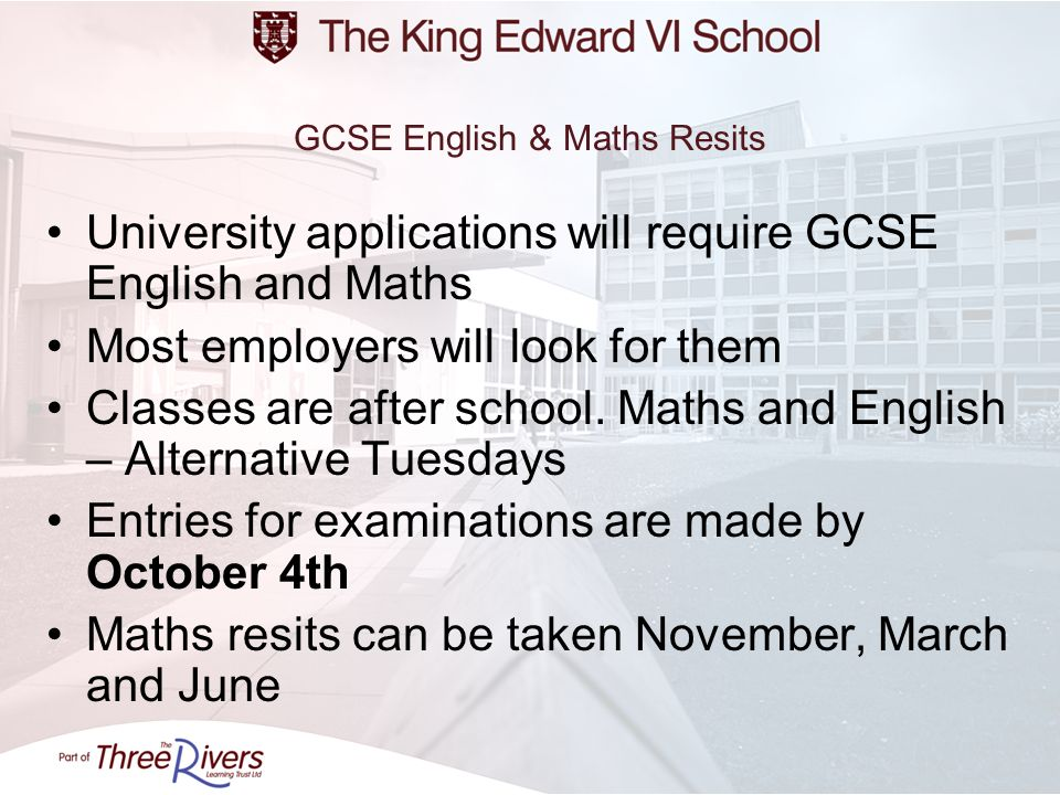 GCSE English & Maths Resits