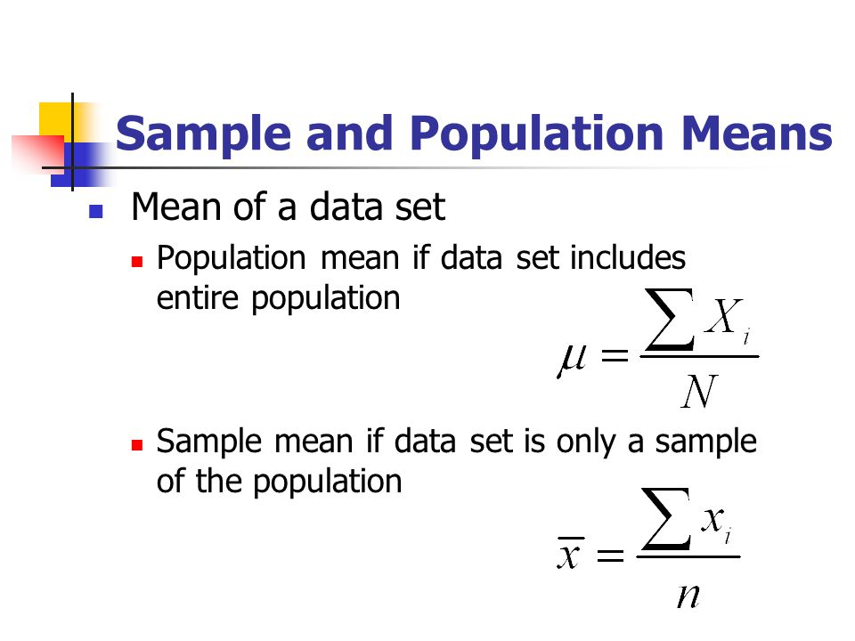Sample and Population Means