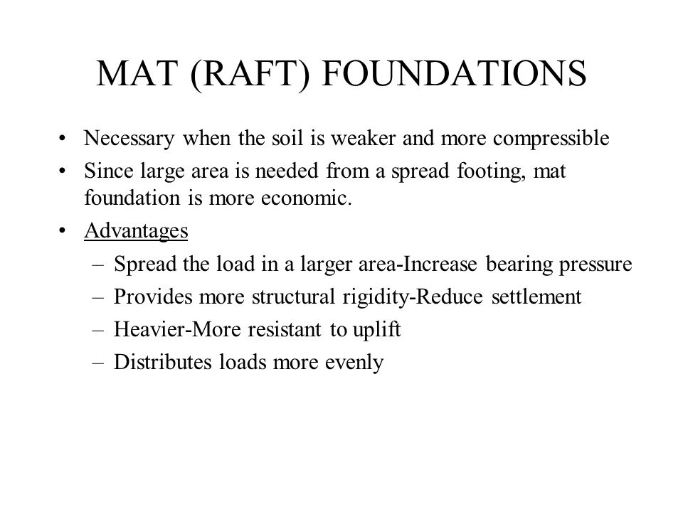 MAT (RAFT) FOUNDATIONS