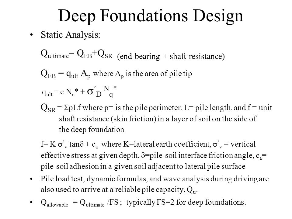 Deep Foundations Design