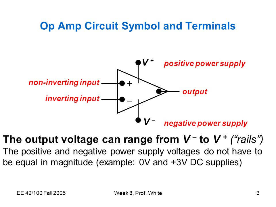 Lectures Week 8 The Operational Amplifier Op Amp Feedback Ppt