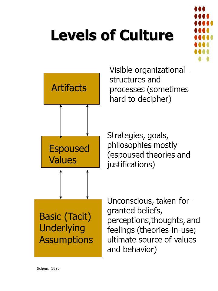 levels of organizational culture pdf