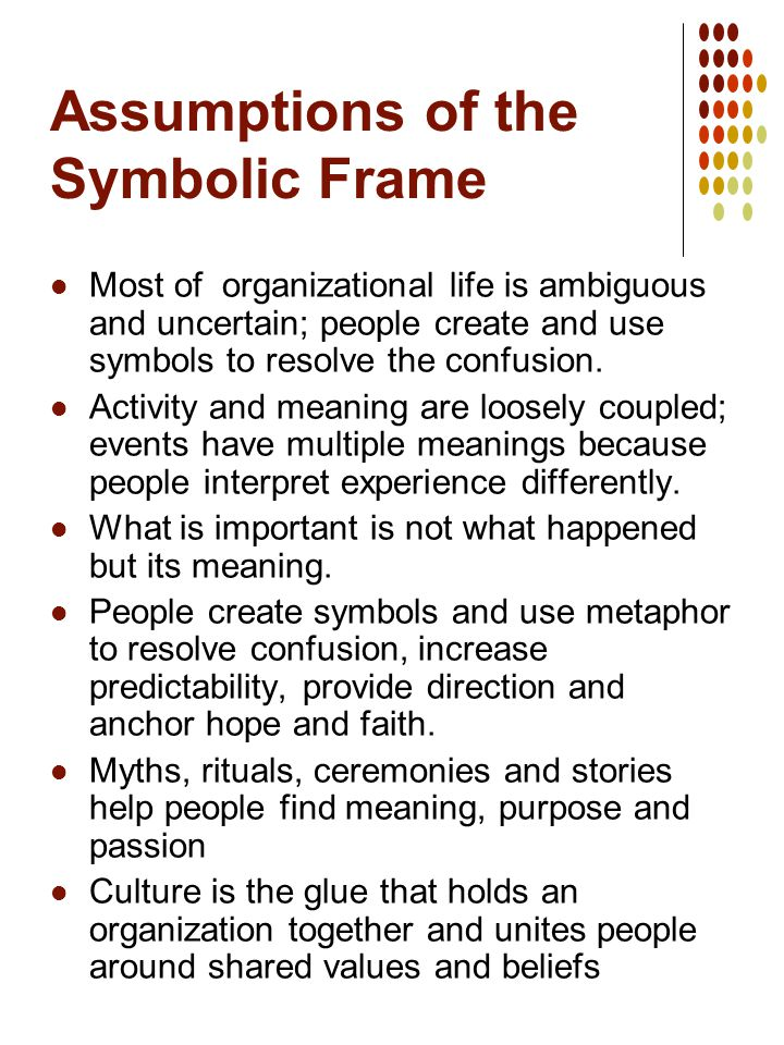 The Symbolic Frame Understanding Culture. - ppt download