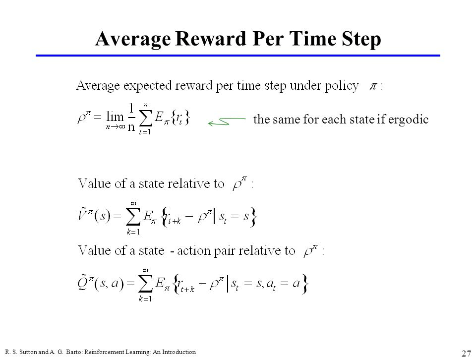 Average Reward Per Time Step