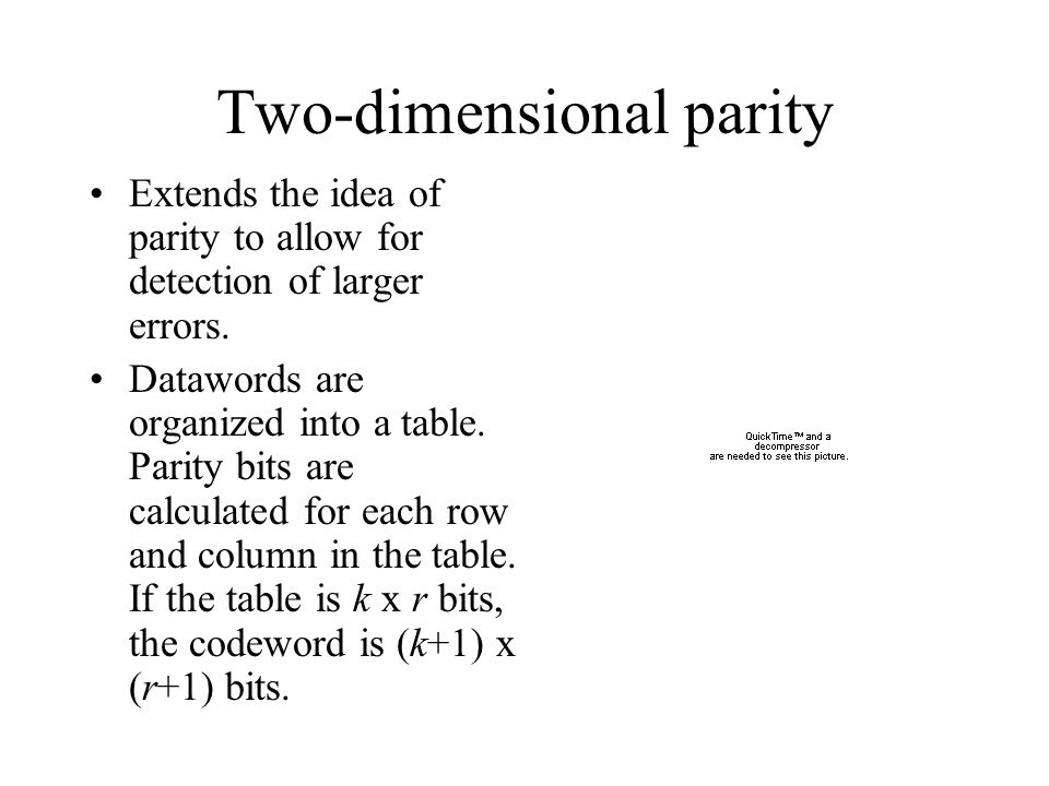 Two-dimensional parity