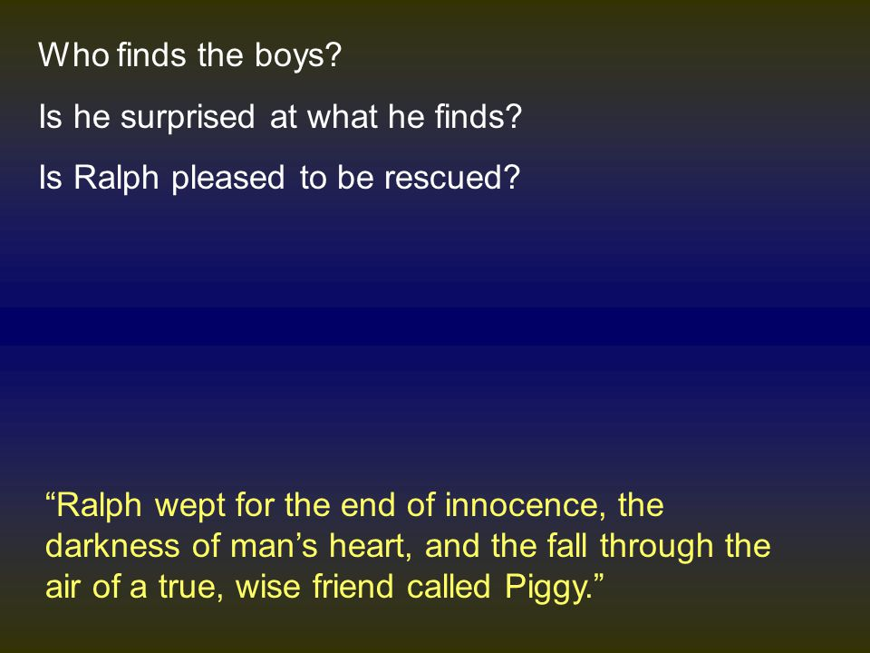 how does golding present piggy as a true wise friend