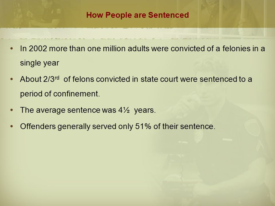 How People are Sentenced
