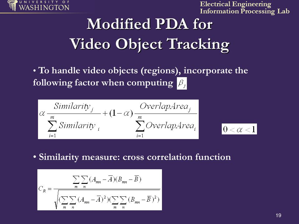 Modified PDA for Video Object Tracking