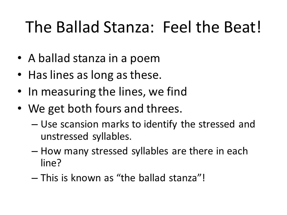 a ballad is a lively storytelling form of poetry ppt download