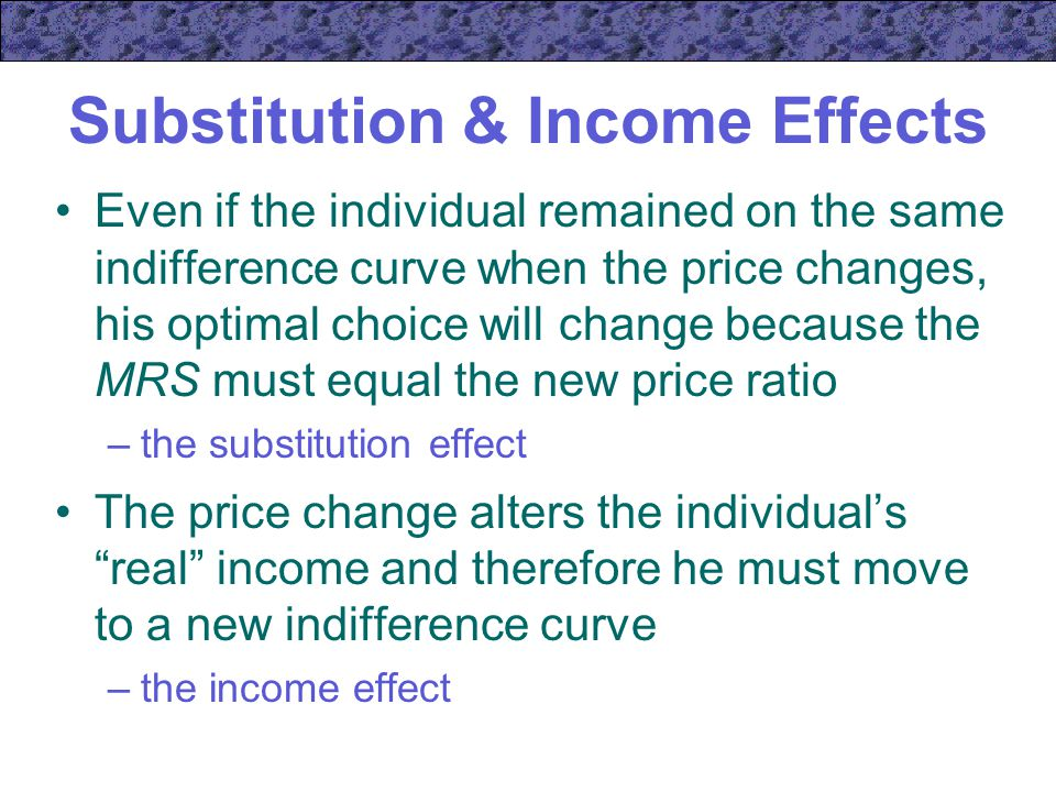 Substitution & Income Effects