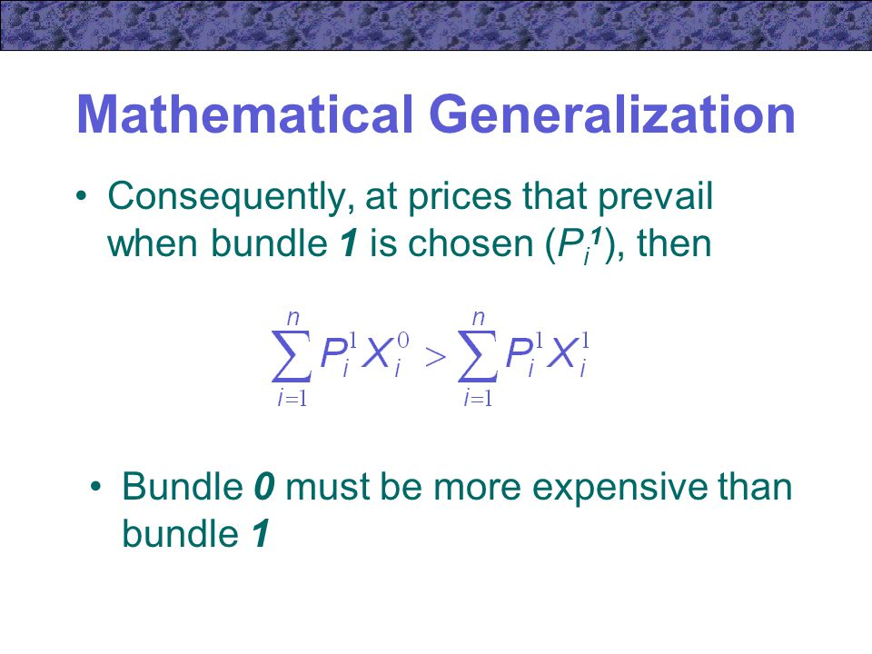 Mathematical Generalization