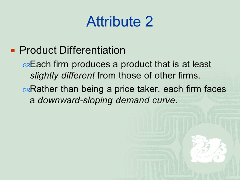 Attribute 2 Product Differentiation