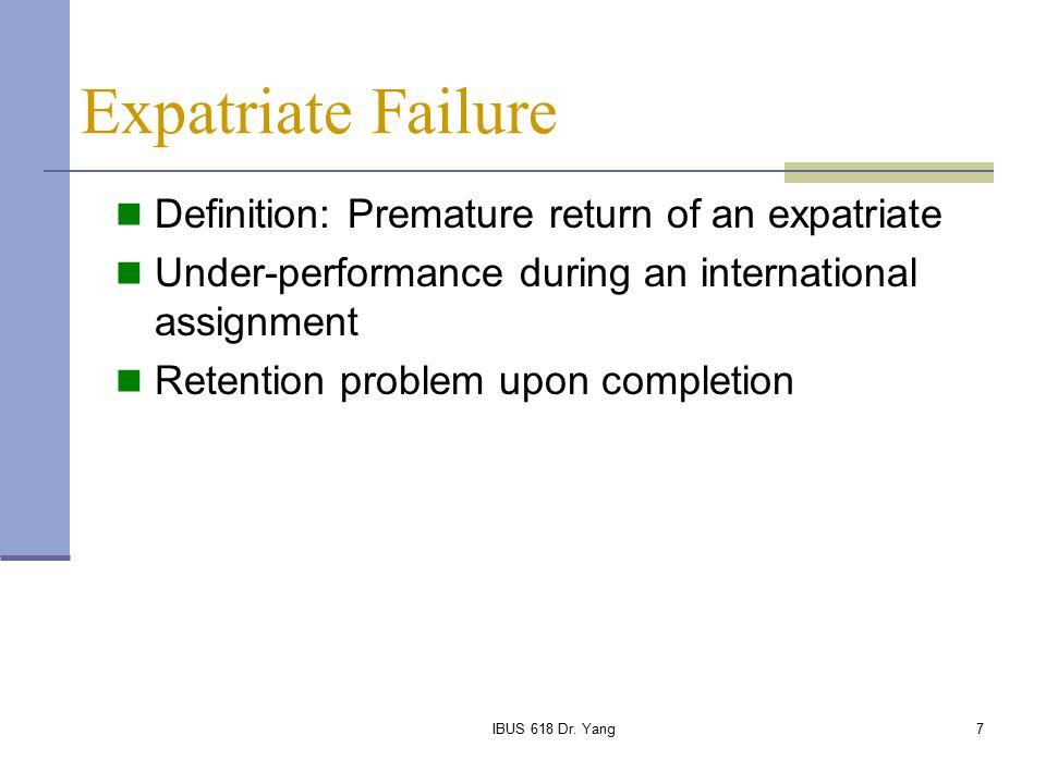 why expatriates fail