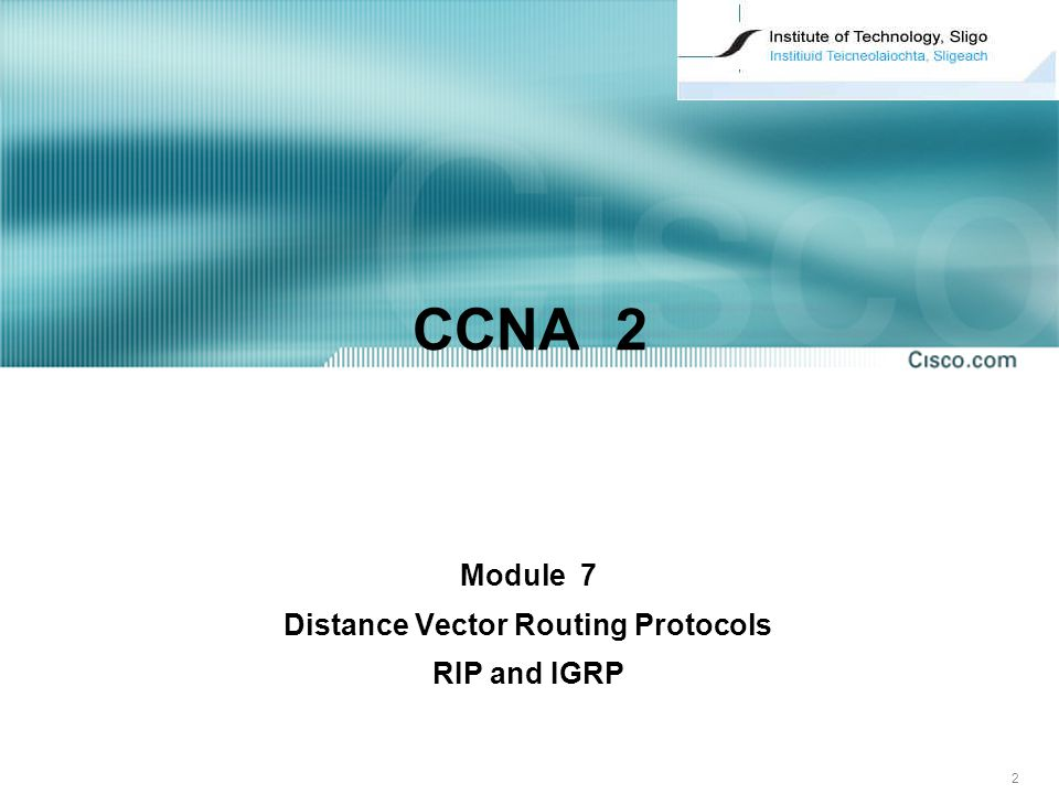 Module 7 Distance Vector Routing Protocols RIP and IGRP