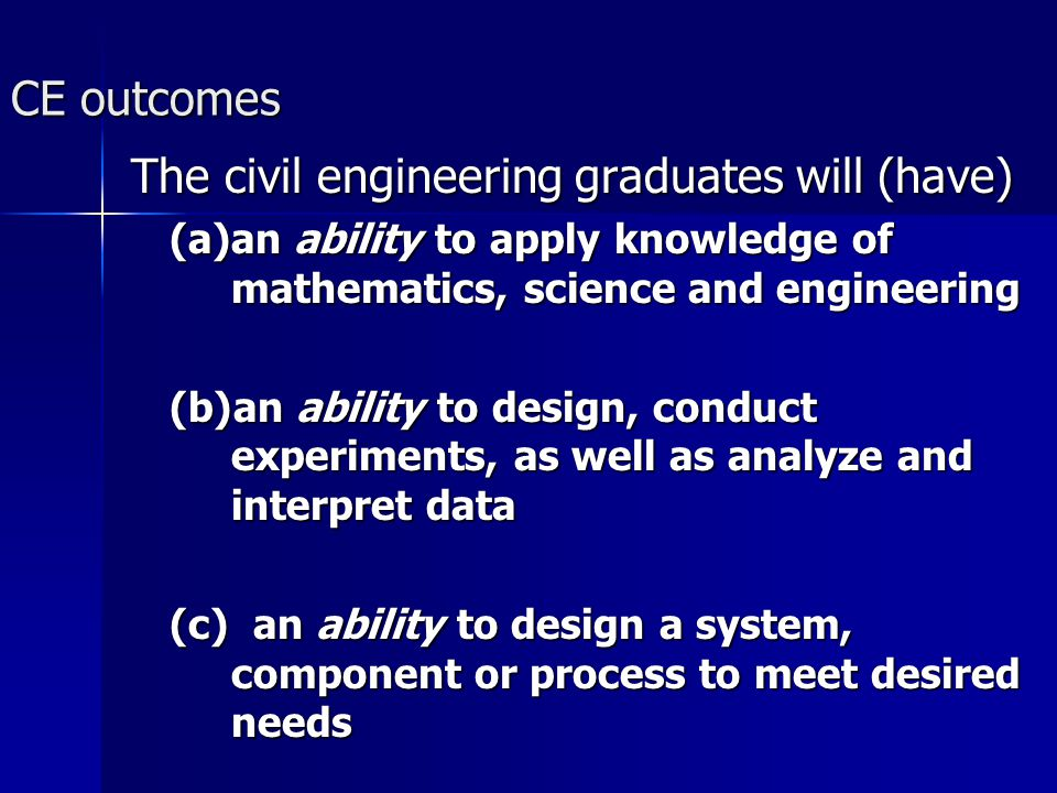 The civil engineering graduates will (have)