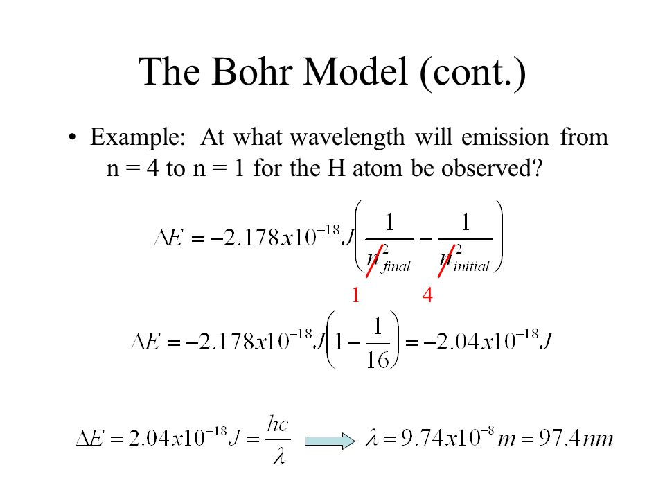 Lecture 17 bohr model of the atom ppt download the bohr model cont example at what wavelength will emission from ccuart Images