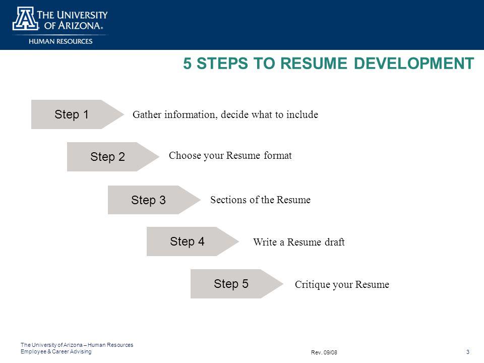 5 STEPS TO RESUME DEVELOPMENT