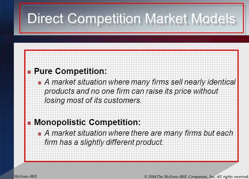 Direct Competition Market Models