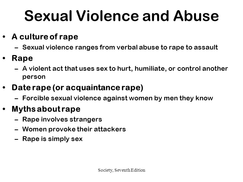 Sexual Violence and Abuse