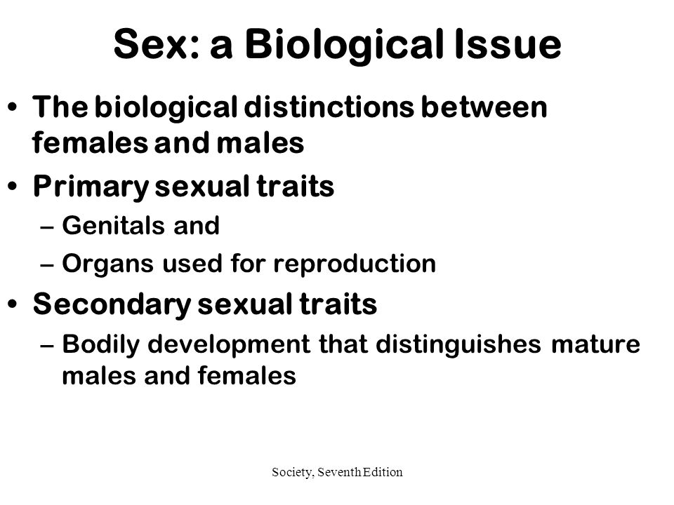 Sex: a Biological Issue