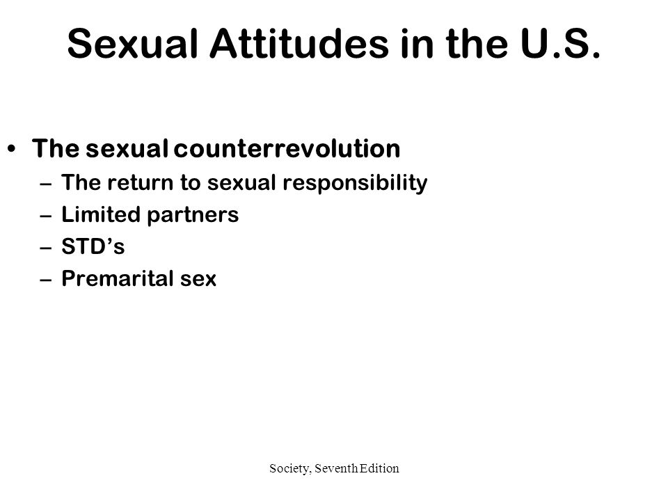 Sexual Attitudes in the U.S.