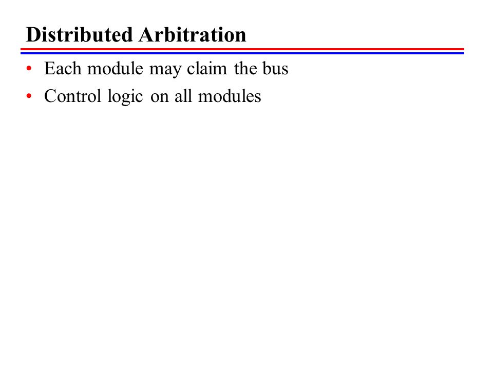 Distributed Arbitration