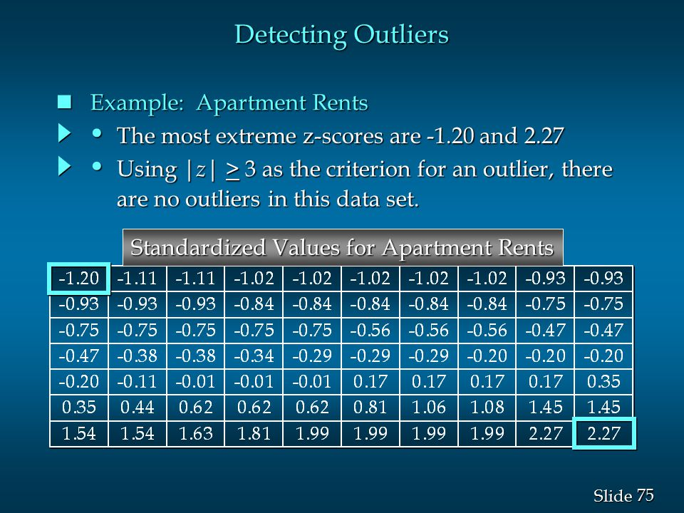 Standardized Values for Apartment Rents