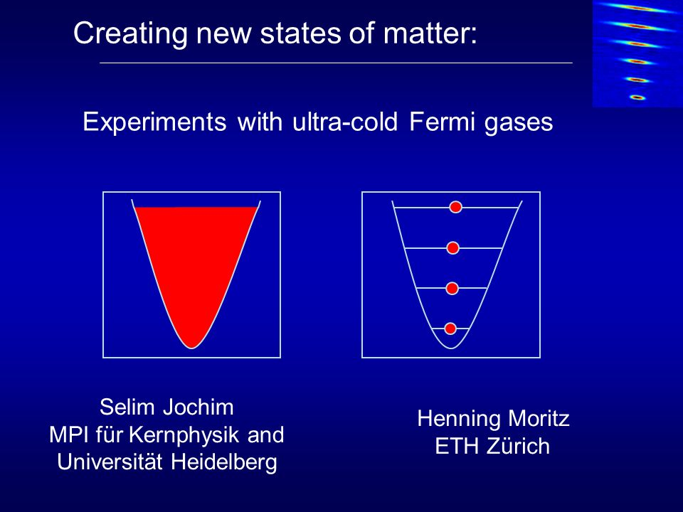 Creating new states of matter: