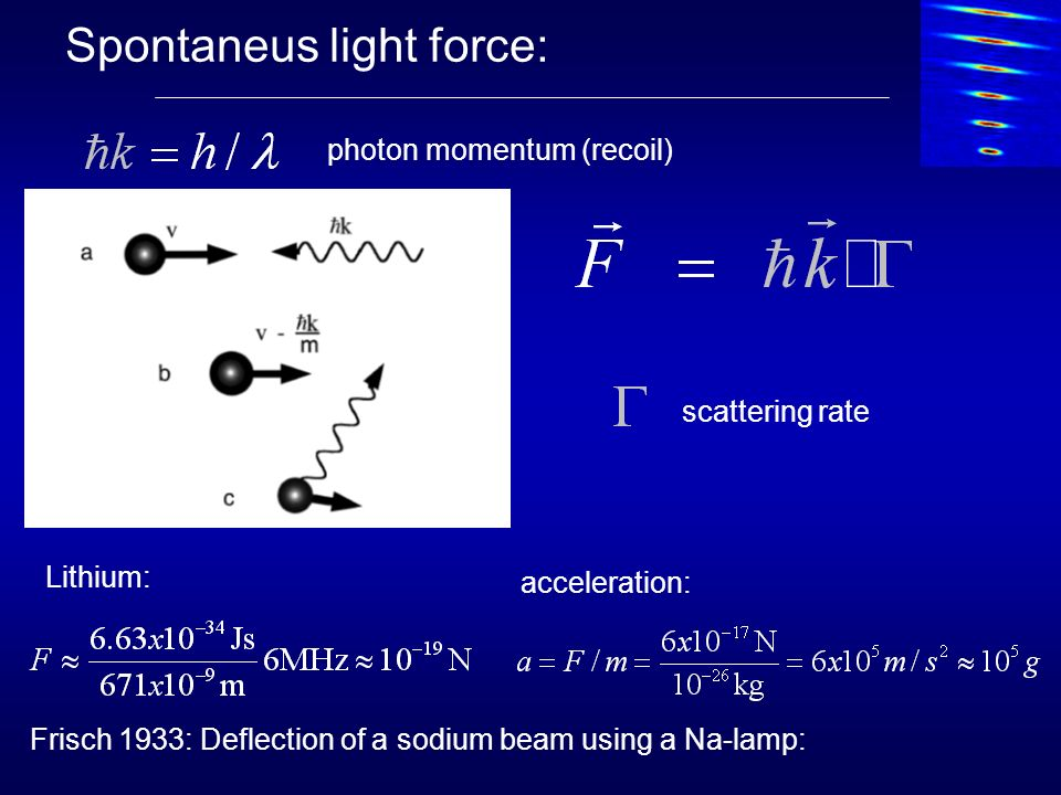 Spontaneus light force: