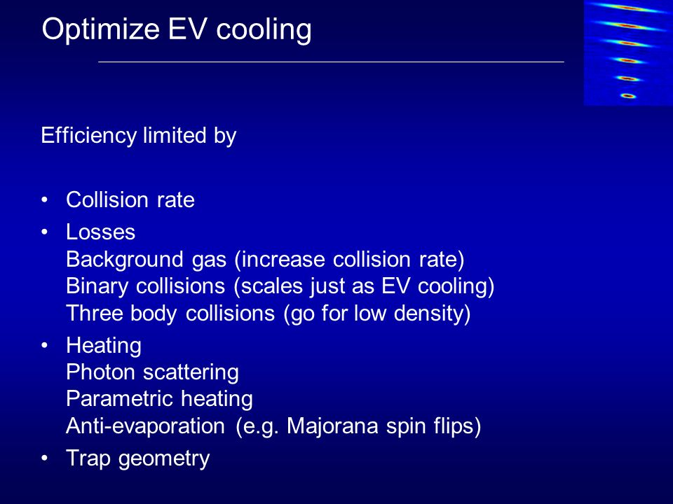 Optimize EV cooling Efficiency limited by Collision rate