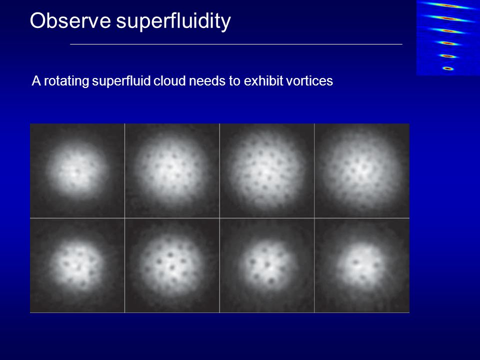 Observe superfluidity