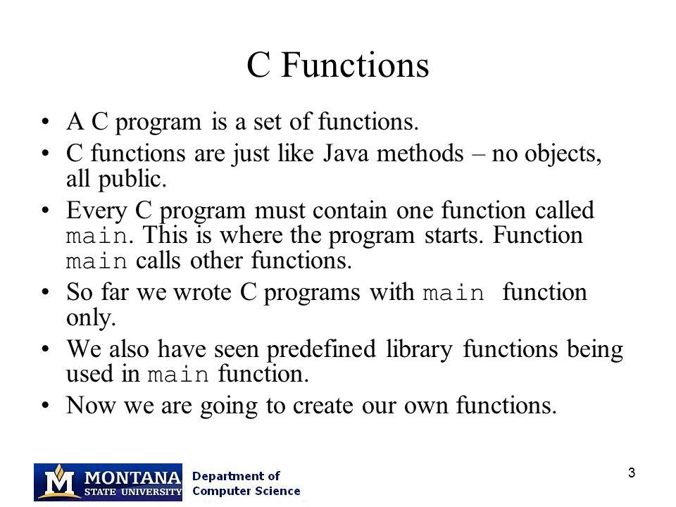 CS 201 Functions Debzani Deb  - ppt download