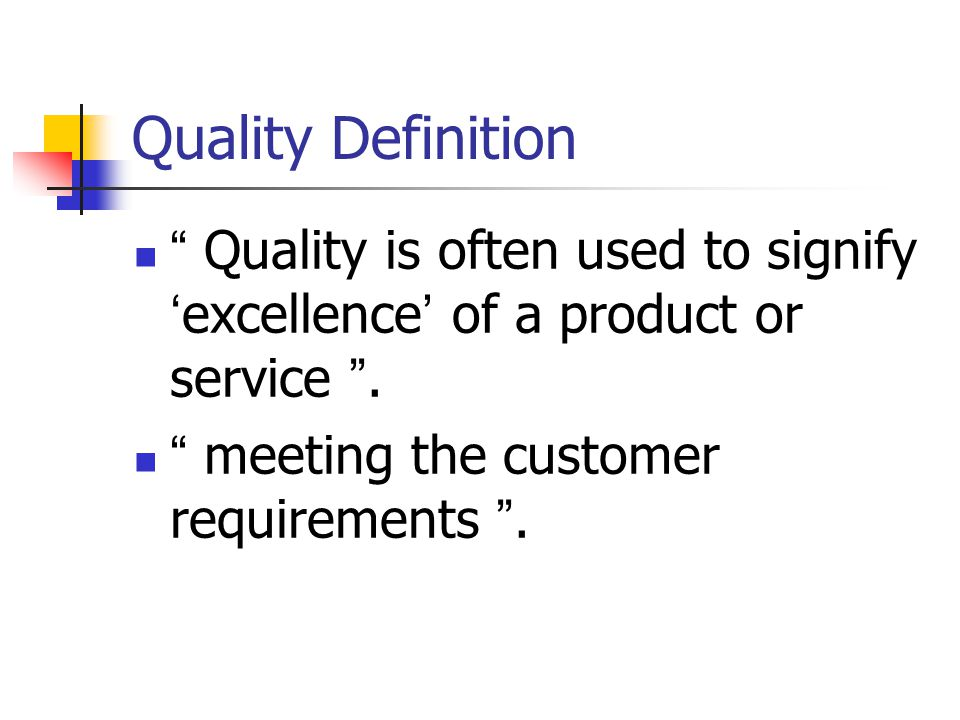 service quality definition