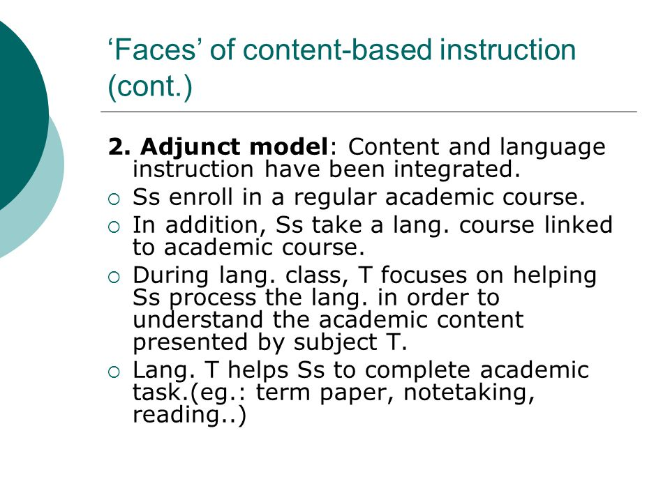 Content Based Language Instruction Ppt Video Online Download