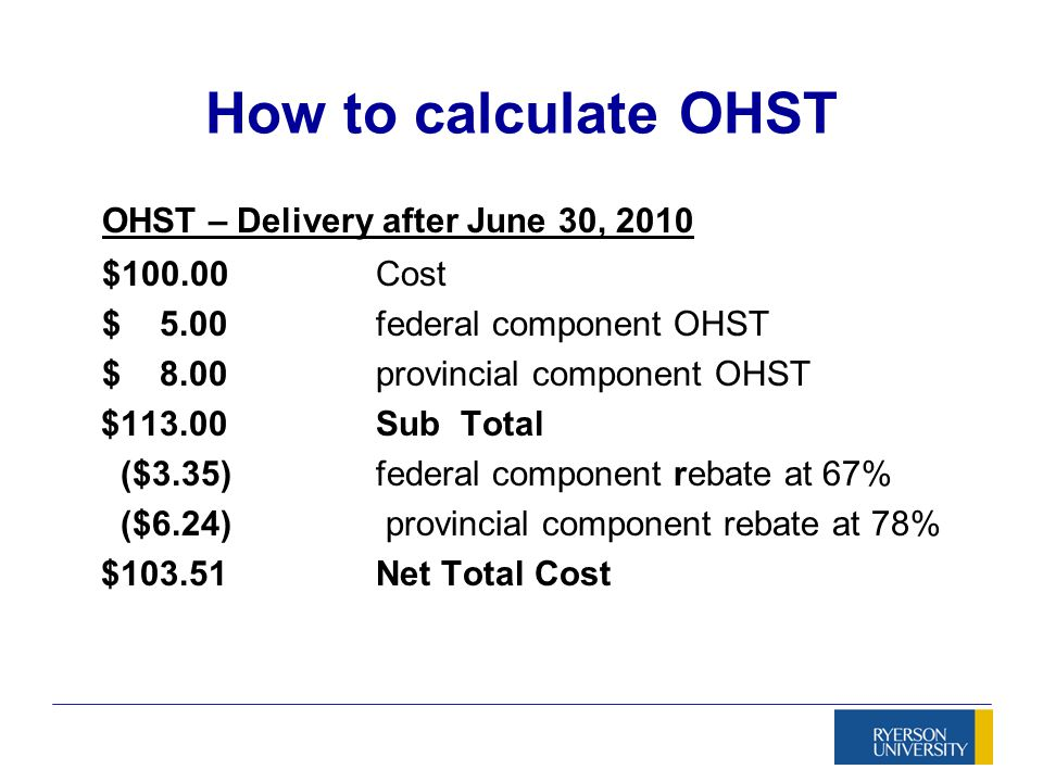 Ontario Harmonized Sales Tax Ppt Video Online Download