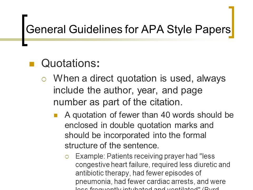 writing an apa style paper