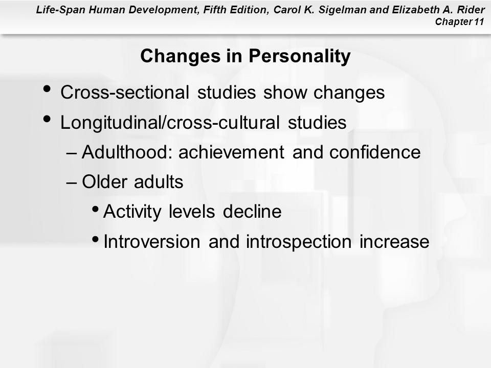 Changes in Personality